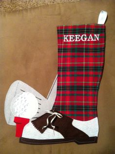 Custom Golf personalized stocking or gift bag Mother Christmas Gifts, Mother Gifts, Christmas Crafts, Christmas Porch, Christmas Stuff, Christmas Ideas, Golf Gifts For Men, Gifts For Golfers, Personalized Stockings