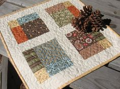 PDF PATTERN Four Square Table Topper Quilt by FrozenKnickers, $8.50