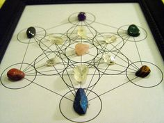 Metatron's Cube Crystal Healing Stone Grid by aurazencrystals, $40.00