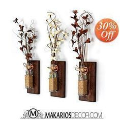 Purchase these on our website. 800-479-0032. Rustic Wall Sconce,Mason Jar Sconce,Wood Wall Sconces,Mason Jar Decor,Wall Sconce,Rustic Sconce,Sconces,Sconce,Shabby Chic Sconces,Mason Jar,Jar Sconce,Copper Sconce,rustic decor,country home decor,rustic wall decor,rustic decor,rustic kitchen decor,rustic furniture,reclaimed wood wall art,shabby chic wall decor,rustic home decorations,shabby chic decor,rustic wedding,mason jar decor,mason jar wedding favors,mason jar wall decor,rustic home decor