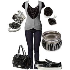 """looking cute in gray"" by karlibugg on Polyvore"