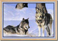 Window - Two Wolves  by Fred  $30  bfc-creations.com