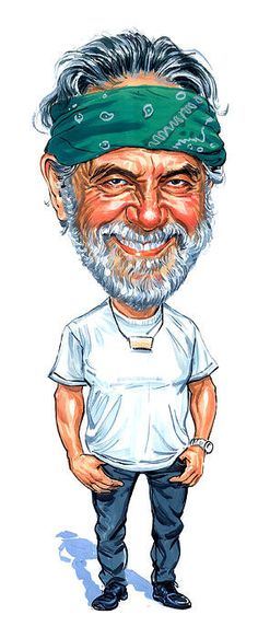 Tommy Chong Art Print featuring the painting Tommy Chong by Art Star Citizen, Cartoon Faces, Funny Faces, Heavy Metal, Cheech And Chong, Celebrity Caricatures, Celebrity Drawings, Caricature Drawing, Movies
