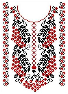 Cross stitching , Etamin and crafts: Traditional cross stitch Pattern Polish Embroidery, Folk Embroidery, Embroidery Patterns Free, Hand Embroidery Designs, Cross Stitch Embroidery, Knitting Patterns, Russian Cross Stitch, Beaded Cross Stitch, Cross Stitch Rose