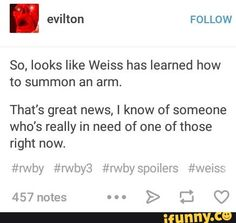 RWBY don't know whether to laugh or cry...
