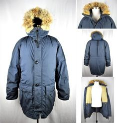 A few light marks on exterior. Eddie Bauer, Blue Coyote, Statement Jackets, Gifts For Dad, Parka, Raincoat, Dads, Boyfriend, Navy Blue