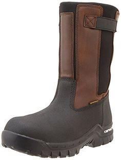 Carhartt Men's Rugged Flex Mud Wellington Work Boot, Brown Oil Tan/Black  Coated,