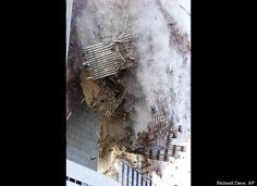 The south tower of New York's World Trade Center collapses Tuesday Sept. 11, 2001. In one of the most horrifying attacks ever against the United States, terrorists crashed two airliners into the World Trade Center in a deadly series of blows that brought down the twin 110-story towers.