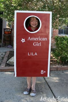 American Girl costume, just use a box, and a bit of paint