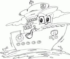 ship is the captain coloring page - Coloring.com