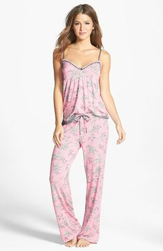 Nordstrom Clothes - PJ Salvage 'Modal Essentials' Lace Trim Camisole Pajamas (Nordstrom Exclusive) a. Satin Pyjama Set, Pajama Set, Pajama Party, Cozy Pajamas, Pyjamas, Style Baby, Pajamas For Teens, Tartan Pants, Cute Pjs