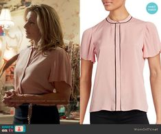 ce70a1bc64a0c1 Alice s pink blouse with pleated sleeves on Riverdale. Outfit Details   https