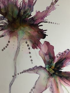 Alcohol ink on photo paper