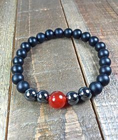 Men's Beaded Bracelet mens bracelet beaded bracelet by SJIJewelry
