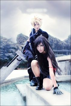 Awesome Cloud and Tifa Cosplay-FINAL FANTASY VII: Advent children by BaoziandHana