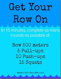 15 Minute Rowing AMRAP