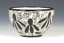 """Cone Flower Bowl por Jennifer Falter (cuenco de cerámica) (3,5 """"x 5,5"""")"""