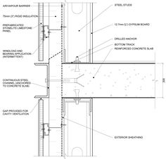 curtain wall slab detail - Google Search