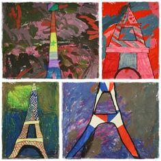 La Tour Eiffel en Arts visuels | la maîtresse a des yeux dans le dos
