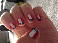 Fourth of July nail design