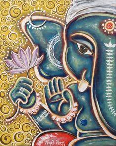May you be blessed beyond what you expect ️ Pintura Ganesha, Arte Ganesha, Arte Krishna, Sri Ganesh, Lord Ganesha, Ganesha Drawing, Ganesha Painting, Indian Gods, Indian Art