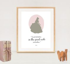 Minimalist Belle poster - Beauty and the Beast poster - INSTANT DOWNLOAD - nursery wall art decor for girls - Disney princess