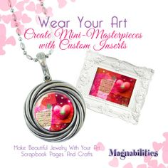Use a photo, your child's art & customize your interchangeable design insert for your Magnabilities jewelry.