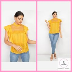 Short Sleeve Ruffle Shadow Top #Mustard #APPAREL #TOPS #NewArrivals #shopladylboutique #ootn #style #lookoftheday #outfitoftheday #whatiwore Lady L, Beauty Boutique, Ruffle Sleeve, What I Wore, Outfit Of The Day, Mustard, Sleeves, Shopping, Tops