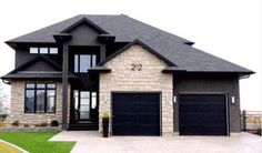 Exterior Paint Colors - You want a fresh new look for exterior of your home? Get inspired for your next exterior painting project with our color gallery. All About Best Home Exterior Paint Color Ideas Style At Home, Ranch Remodel, House Goals, Exterior Paint, Black Exterior, Exterior Colors, Black Windows Exterior, Stucco And Stone Exterior, Black Garage Doors