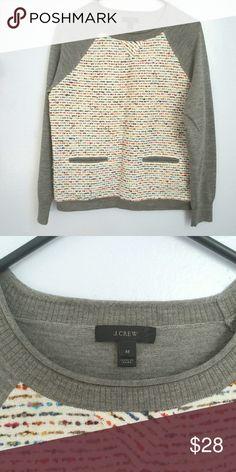 J. Crew gray Multicolor sweater   100% merino wool Beautiful NWOT j. Crew sweater sale J. Crew Sweaters