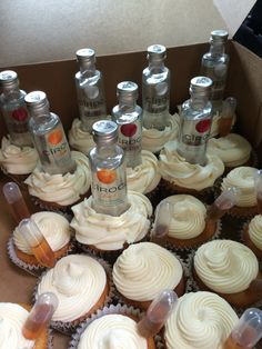Alcohol infused cupcakes. Ciroc & Hennessey
