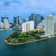 """""""Good Morning Miami, wonderful view of Brickell Park, at Miami, Florida, United States of America.  ______________________________________   #drfromsky…"""""""