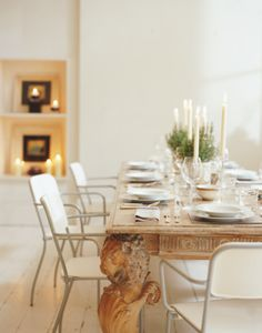 Easy Feng Shui Tips: Decorate Your House with White: Dine in White