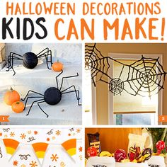 Halloween decorations kids can make: These DIY decorations double as kid-friendly Halloween crafts. Easy, fun, and CUTE decorations that kids can make and you'll love displaying.
