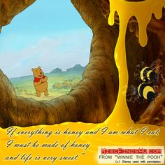 Winnie the Pooh Quote - Made of Honey