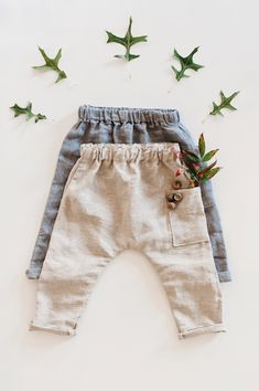 Handmade Linen Baby / Toddler Pants | Gypsyandfree on Etsy