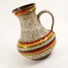 Vintage ceramic Ü-Keramik pottery Vase Übelacker 70er 60er 1808 -30 retro 1857  | eBay