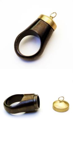 Secret storage ring - carry around a small trinket or note. Can be worn as a pendant too.