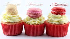 Macaron Cupcake Macarons, Cupcakes, Desserts, Food, Tailgate Desserts, Cupcake Cakes, Deserts, Essen, Macaroons