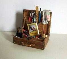 Miniature Artist Paint Box (1 inch dollhouse scale) - Inspiration