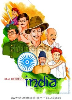illustration of Tricolor India background with Nation Hero and Freedom Fighter l… Illustration der Tricolor India Hintergrund mit Nation Hero und Freedom Fighter wie Mahatma Gandhi, Bhagat Singh, Subhash Chandra Bose für Independence Day Independence Day Drawing, Independence Day Pictures, Independence Day Poster, Independence Day Wallpaper, Happy Independence Day India, Independence Day Background, Indian Flag Wallpaper, Indian Army Wallpapers, Mahatma Gandhi