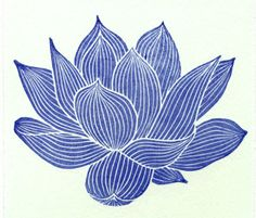 linoprint or silk painting