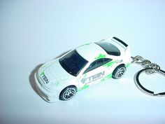 3D Acura Integra GSR custom keychain by Brian Thornton keyring key chain finished in TEIN white color trim 2001 by Thorntongifts on Etsy