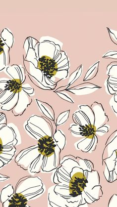 Beautiful Floral Mobile Background