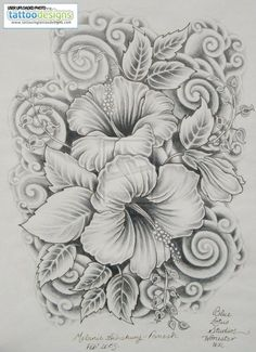 hibiscus tattoos designs for women   Image Tattooing Tattoo Designs - Free Download Tattoo #40109 Hibiscus ... by Banphrionsa