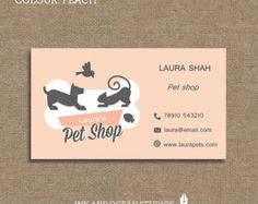 1000 imagens sobre cartao de visitas no pinterest for Pet store business cards