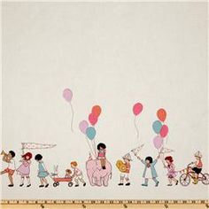 this is one of my favorite fabrics!!  designed by Sarah Jane - Michael Miller Children at Play On Parade