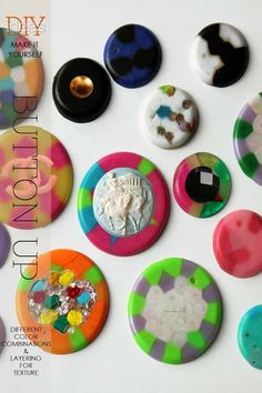DIY Melting plastic beads, not just for kids | learn how to make fabulous buttons and shawl pins for your knits | DiaryofaCreativeFanatic