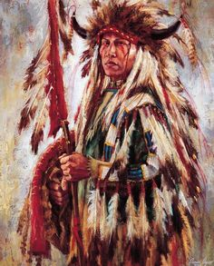 """""""Feathers of Mystic Power - Sioux"""" - James Ayers"""