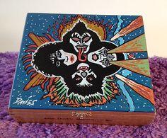 KISS - Custom Hand Painted Cigar Box Art – KISS Art – Rock and Roll Décor – Music Decor– Cigar Box Art - Stash Box  - Jewelry Box - KISS by TimothyDaviesArt on Etsy